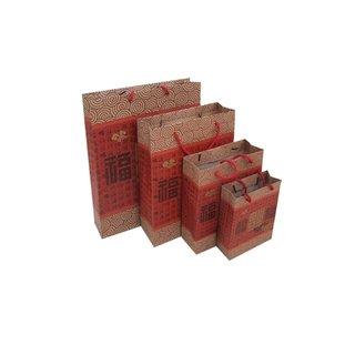 Geschenktasche-Chinadekor M, 12er Pack