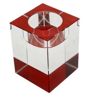 Teelichthalter-Kristall rot