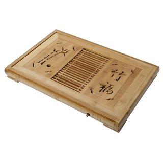 Serviertablett für Tee aus Bambus, 44cm