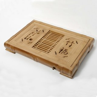 Serviertablett für Tee aus Bambus, 57cm
