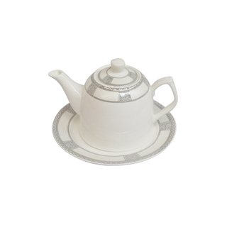 Epig. grau Teekanne & Unterteller 2Pers. ca. 600ml