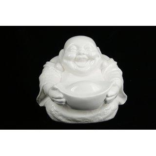 Glücksbuddha sitzend aus Porzellan
