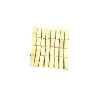 Tellerclips aus Bambus Set 20St. ca.6x1,2cm