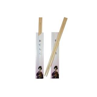 Einwegstäbchen & Papierhülle Geisha 100er