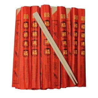 Einwegstäbchen China Papierhülle 100er
