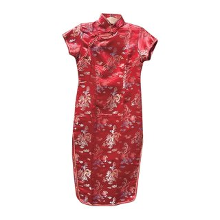 Asia Kleid, Chinakleid Qipao rot S-XXXL