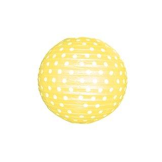 """Papierlampion """"Gelb mit weißen Punkten"""""""