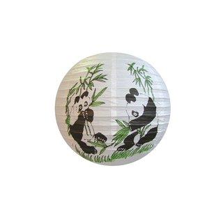 "Papierlampion  ""Weiß m. Motiv (Panda)"""