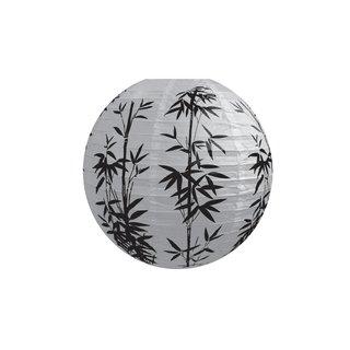 """Papierlampion """"Weiß mit Muster (Bambus)"""""""