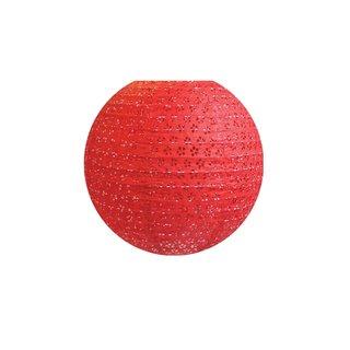 """Papierlampion """"Rot mit gestochenem Muster"""""""