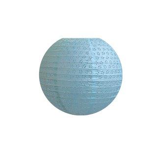 """Papierlampion """"Blau mit gestochenem Muster"""""""