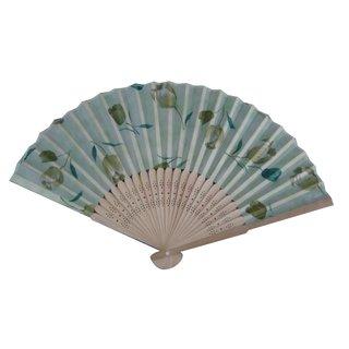 Handfächer Stoff  Bambusstreben 50VP