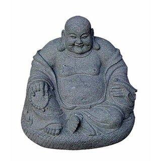 Granit Buddha Gartenfigur Feng Shui, Höhe 40 cm