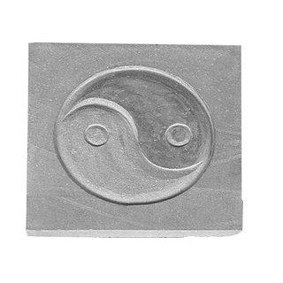 "Granit Steinplatte "" Yin Yang"""