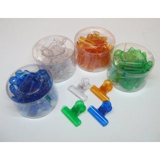 48 Stück Verschlussklammern 4 Farben