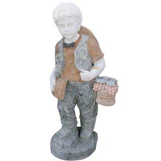 Steinfigur Junge 105cm