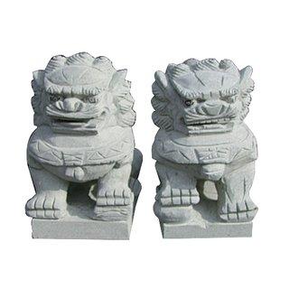Steinfigur Löwen Paar 30 / 40cm