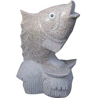 Steinfigur Fisch 63cm