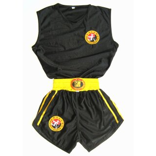Sanda Dress / Kung Fu Anzug Hung Gar Lai Tai, schwarz