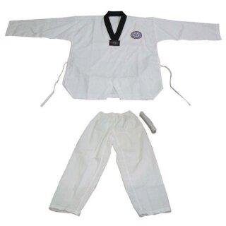 Taekwondo Anzug Dobok, schwarzer Kragen