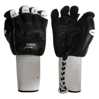 Echtleder Kenpo Handschützer schwarz- weiß