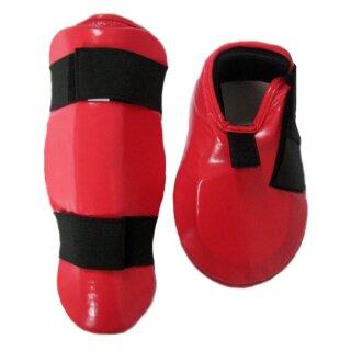 Schienbeinschutz Spannschutz Set, rot