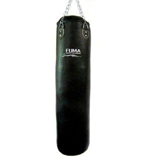 Echt Leder Boxsack gefüllt 150 x 35 cm schwarz