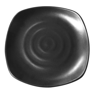 Tok. Teller Melamin schwarz rundeckig ca.22,5x3cm