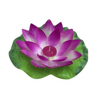 Lotusblüte mit Teelicht 19cm ,12er Set