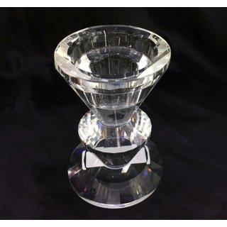 Kerzenständer Kristallglas, 5,7x8,5cm