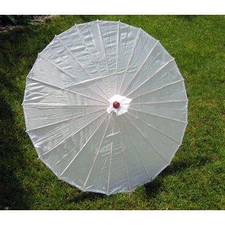 Deko Textilschirm, 80cm weiß