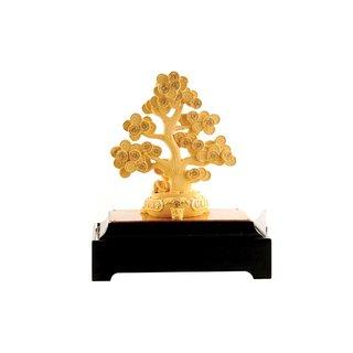 Glücksbaum, vergoldet