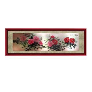 "Bild ""Blumen"", ca. 230x80cm"