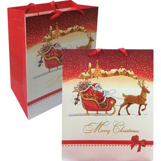 Geschenktasche-Weihnachtsmotiv, 12er Pack