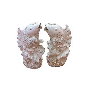 Dekofisch Paar Porzellan
