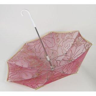 2x Stk. Deko Schirm pink mit Pailletten, ca. 70cm