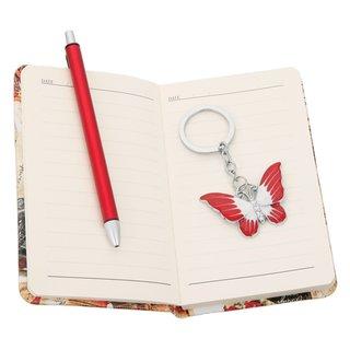 3tlg. Geschenkset, Kugelschreiber, Notizheft und Schlüsselanh.
