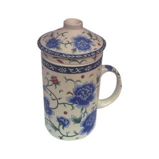 Teetasse & Sieb Blumen