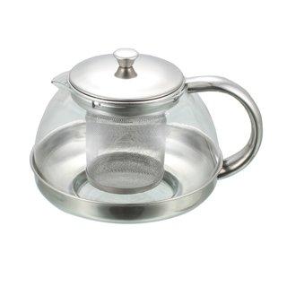 Teekanne mit Sieb aus Glas und Edelstahl, 1050ml