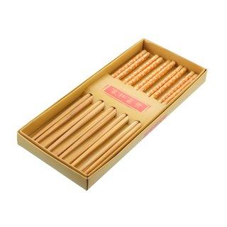 Ess-Stäbchen Bambus gelb 5er