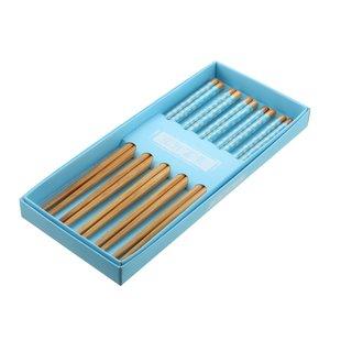 Ess-Stäbchen Bambus blau 5er