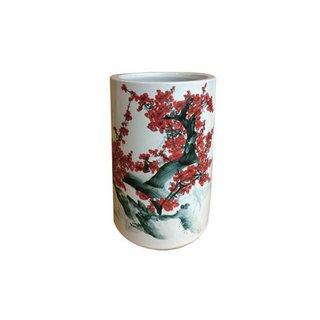"""Regenschirmständer Keramik """"Kirschblüte"""", BxH ca. 28x46cm"""