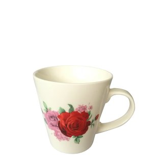 Kaffeetasse mit Rosendekor