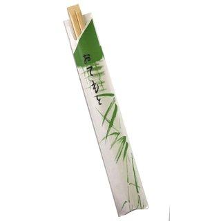 Einwegstäbchen Bambus Papierhülle, 100er