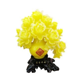 Dekofigur Kunstharz Blumen Vase