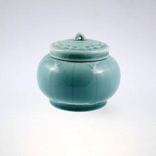Teedose Porzellan blau