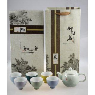 7tlg. Teeset in Geschenkverpackung