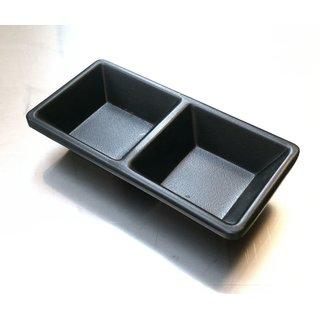 Tok. Soßenschale Melamin schwarz 2-Fach ca.13x6,5x2,2cm