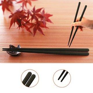 Ess-Stäbchen 10xPaar, Kunststoff schwarz - Spitz zulaufend