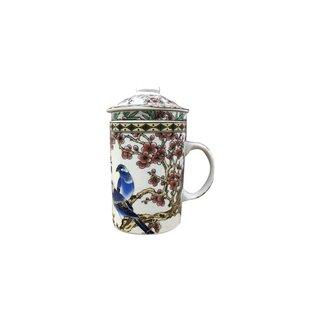 Teetasse & Sieb Vogel